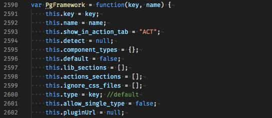 Pinegrow Framework code.